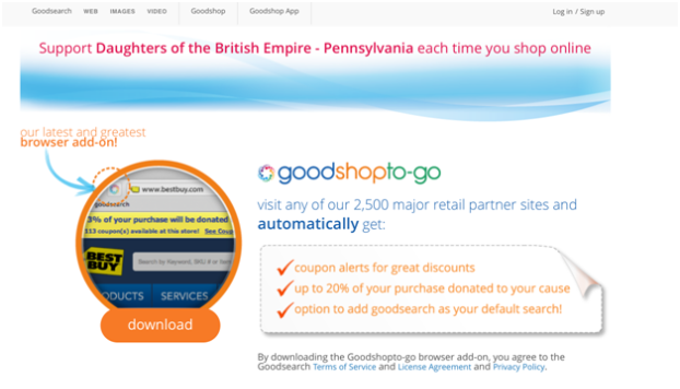 support Daughters of the British Empire Pennsylvania each time you shop online